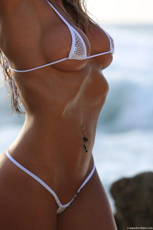 net micro bikini white